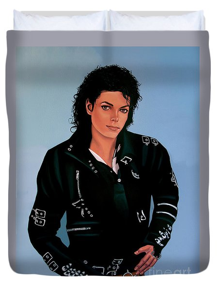 Michael Jackson Bad Duvet Cover by Paul Meijering