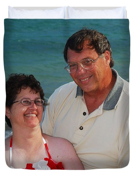 Michael  Peychich And His Sweetheart Duvet Cover by Michael Peychich