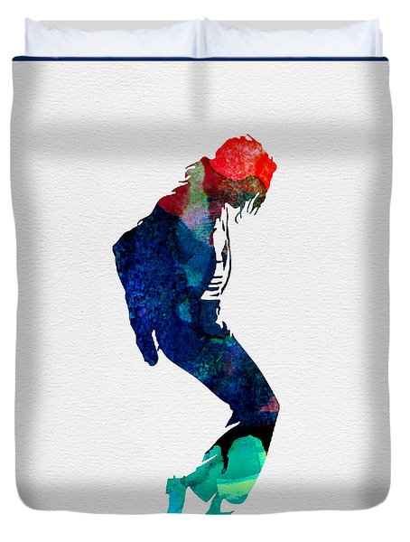 Michael Watercolor Duvet Cover by Naxart Studio