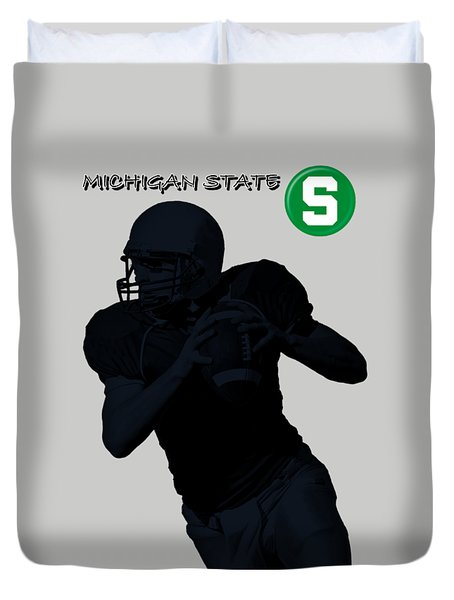 Michigan State Football Duvet Cover by David Dehner