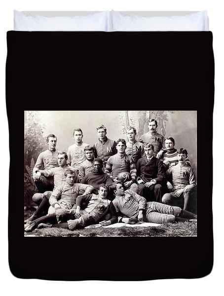 Michigan Wolverine Football Heritage 1890 Duvet Cover by Daniel Hagerman