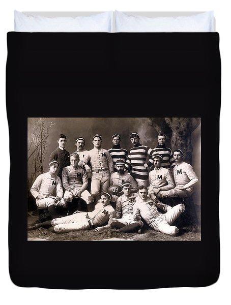 Michigan Wolverines Football Heritage 1888 Duvet Cover by Daniel Hagerman