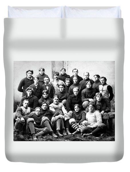 Michigan Wolverines Football Heritage  1895 Duvet Cover by Daniel Hagerman