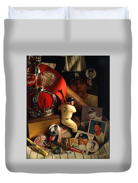 Mickey Mantle Duvet Cover by David M Spindel