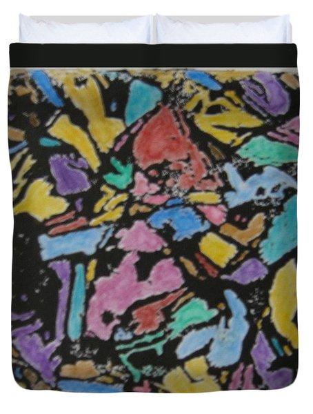 Microscopic Meteorite Duvet Cover by Laura Laughren