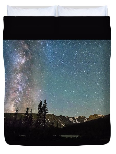 Middle Of The Night Milky Way Above The Rocky Mountains Duvet Cover by James BO  Insogna