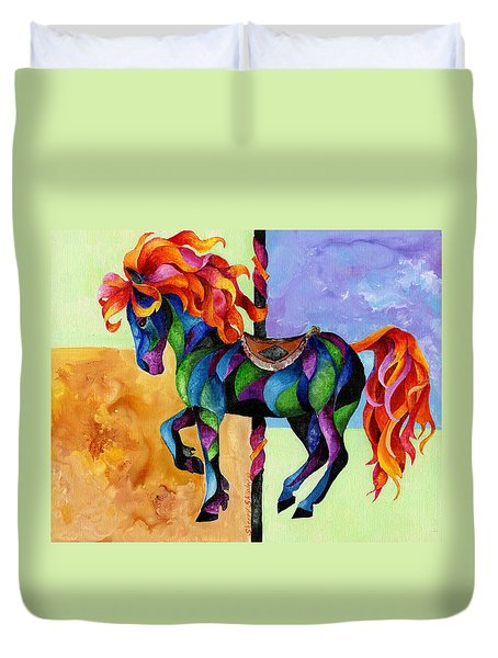 Midnight Fire Duvet Cover by Sherry Shipley