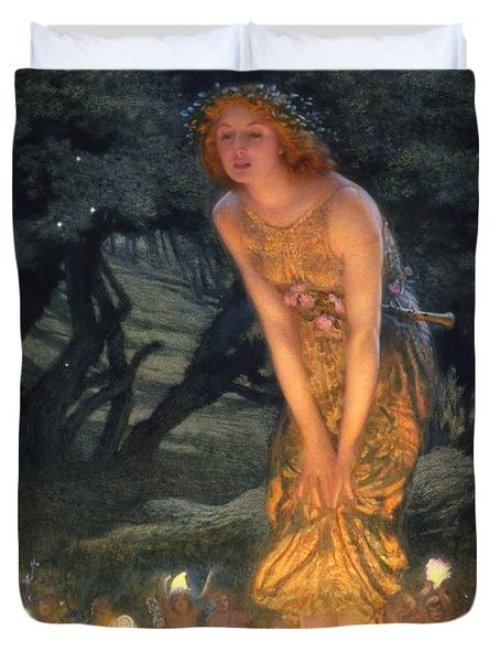 Midsummer Eve Duvet Cover by Edward Robert Hughes