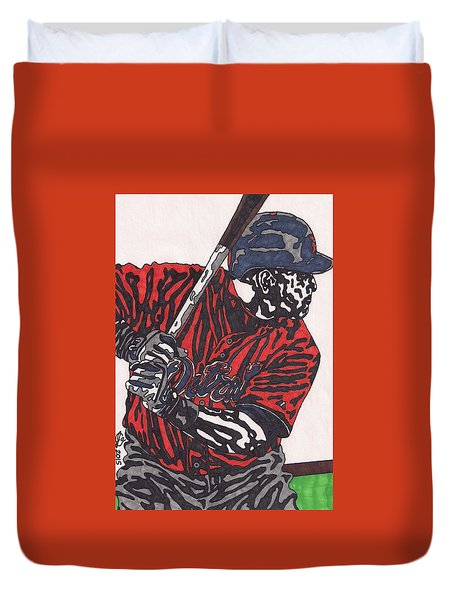 Miguel Caberera 1 Duvet Cover by Jeremiah Colley