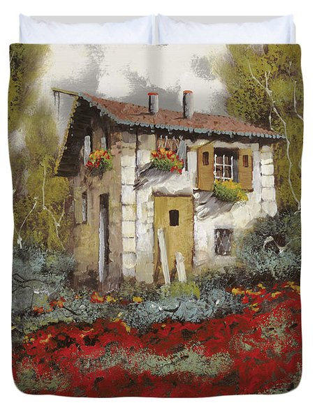 Mille Papaveri Duvet Cover by Guido Borelli