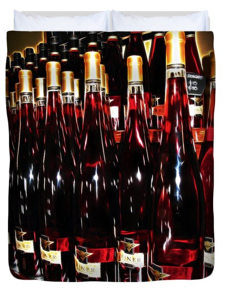 Miner Pink Sparkling Wine Duvet Cover by Joan  Minchak