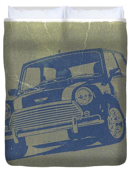 Mini Cooper Duvet Cover by Naxart Studio