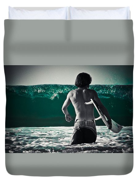 Mint Surf Duvet Cover by Loriental Photography