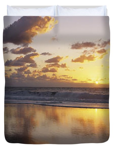 Mirrored Mexico Sunset Duvet Cover by Bill Schildge - Printscapes