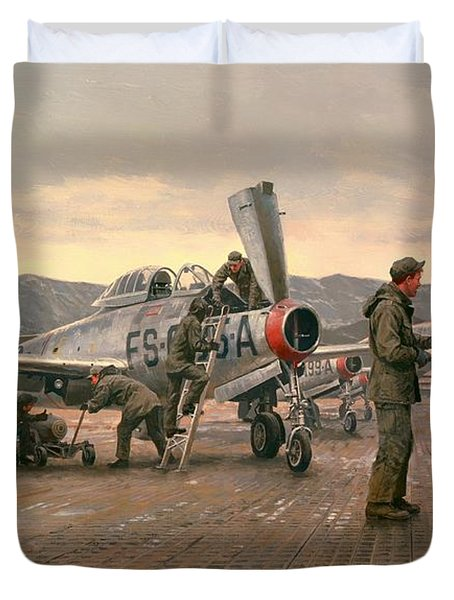 Mission From Taegu Duvet Cover by National Guard Bureau