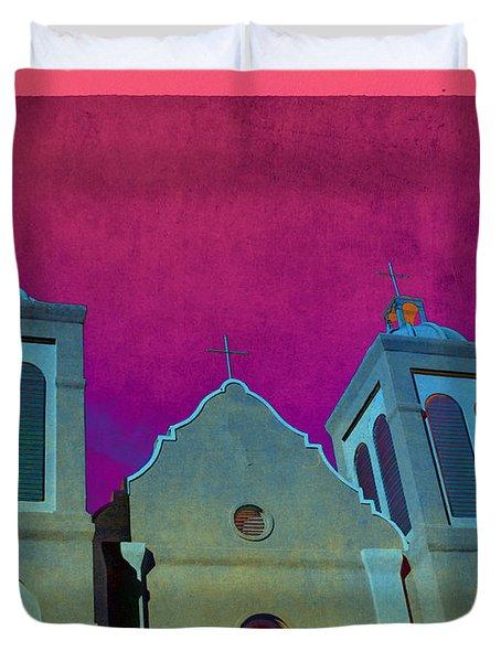 Mission New Mexico Var.2 Duvet Cover by Susanne Van Hulst