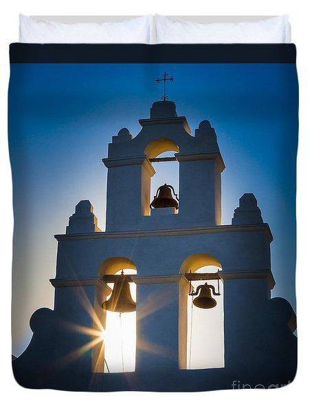 Mission Sunset Duvet Cover by Inge Johnsson