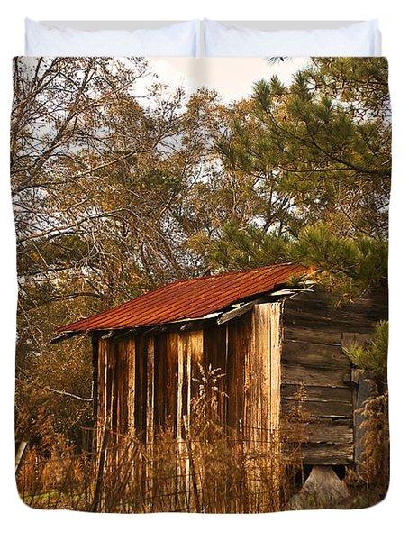 Mississippi Corn Crib Duvet Cover by Tamyra Ayles