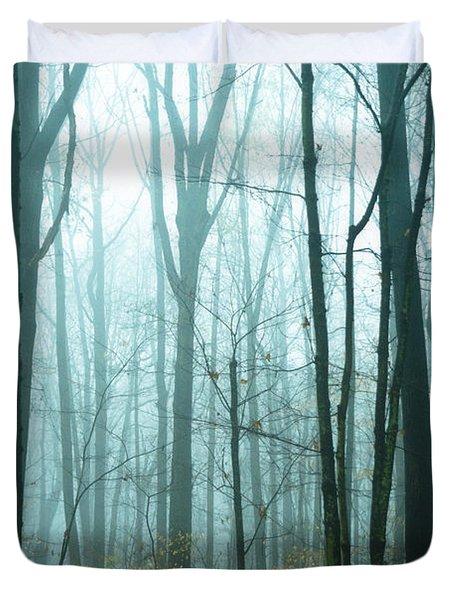 Misty Forest Duvet Cover by John Greim