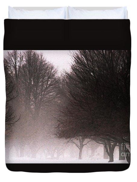 Misty Duvet Cover by Linda Knorr Shafer