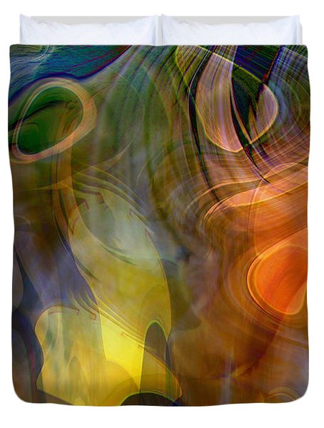Mixed Emotions Duvet Cover by Linda Sannuti