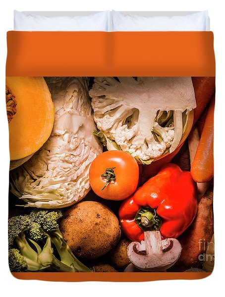 Mixed Vegetable Produce Pack Duvet Cover by Jorgo Photography - Wall Art Gallery