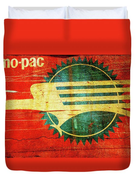 Mo-Pac Caboose  Duvet Cover by Toni Hopper