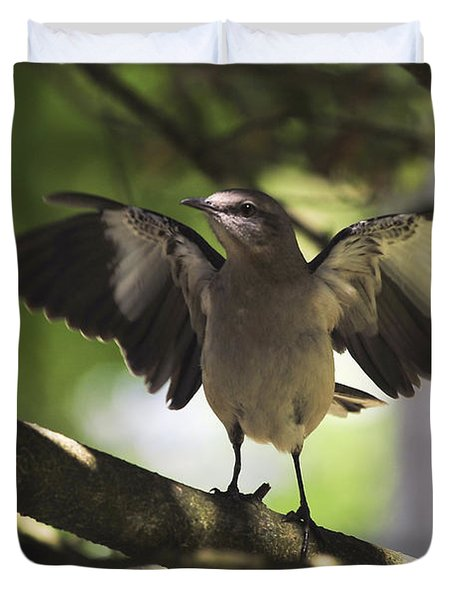 Mockingbird  Duvet Cover by Terry DeLuco