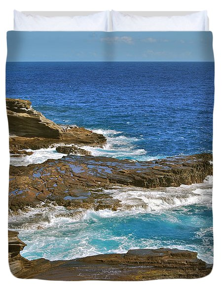 Molokai Lookout 0649 Duvet Cover by Michael Peychich