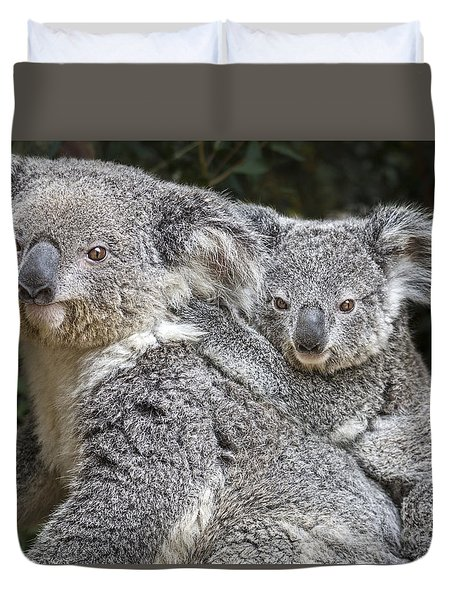 Mommy Hugs Duvet Cover by Jamie Pham