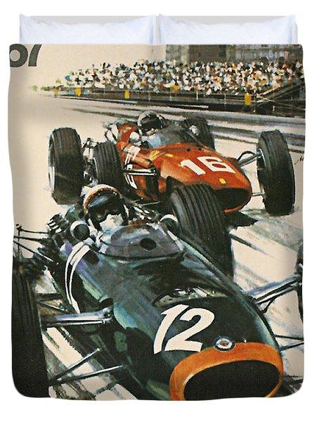 Monaco Grand Prix 1967 Duvet Cover by Georgia Fowler