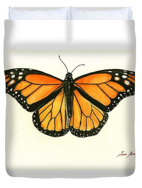 Monarch Butterfly Duvet Cover by Juan Bosco
