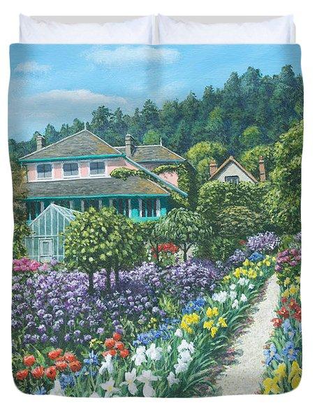 Monet's Garden Giverny Duvet Cover by Richard Harpum