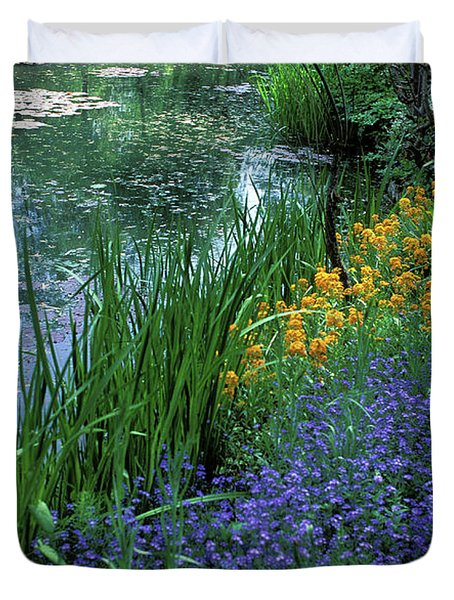 Monet's Lily Pond Duvet Cover by Kathy Yates