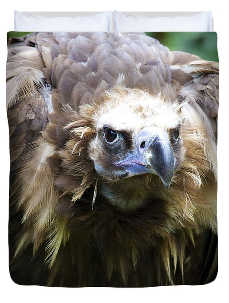 Monk Vulture 3 Duvet Cover by Heiko Koehrer-Wagner