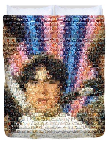 Monkees Mosaic Duvet Cover by Paul Van Scott