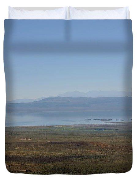 Mono Basin Landscape - California Duvet Cover by Christine Till
