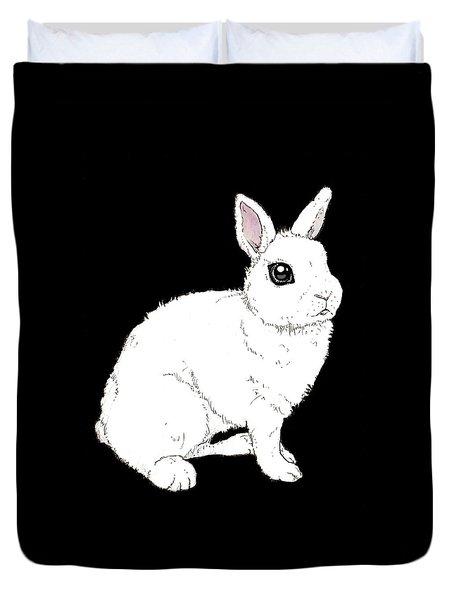 Monochrome Rabbit Duvet Cover by Katrina Davis