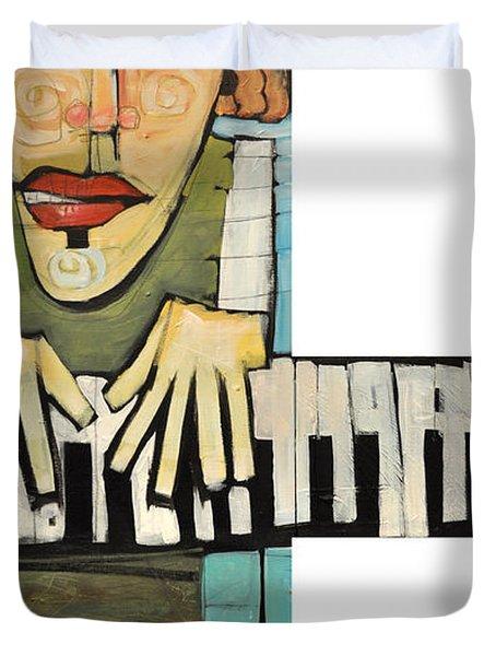 Monsieur Keys Duvet Cover by Tim Nyberg