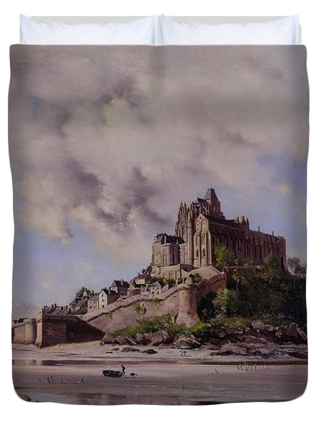 Mont Saint Michel Duvet Cover by Emmanuel Lansyer
