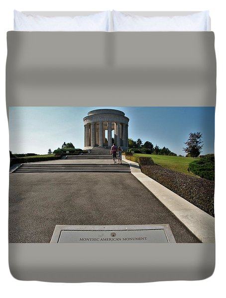 Duvet Cover featuring the photograph Montsec American Monument by Travel Pics
