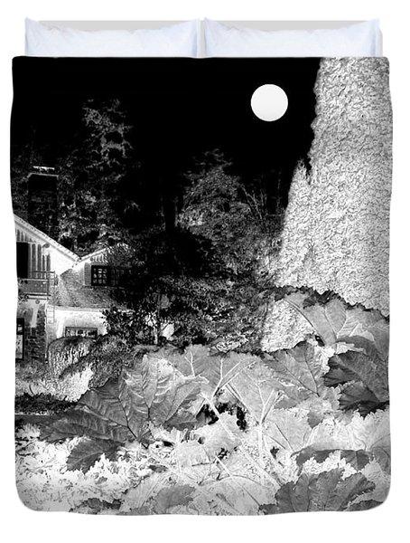 Moon Over Stanley Park Duvet Cover by Will Borden