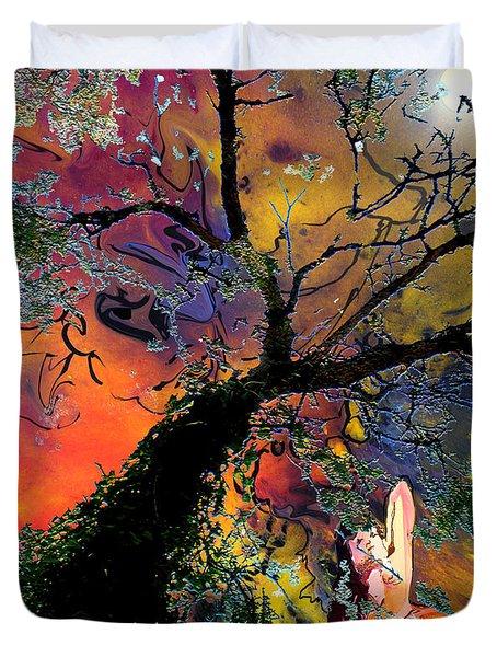 Moonbathing Duvet Cover by Miki De Goodaboom