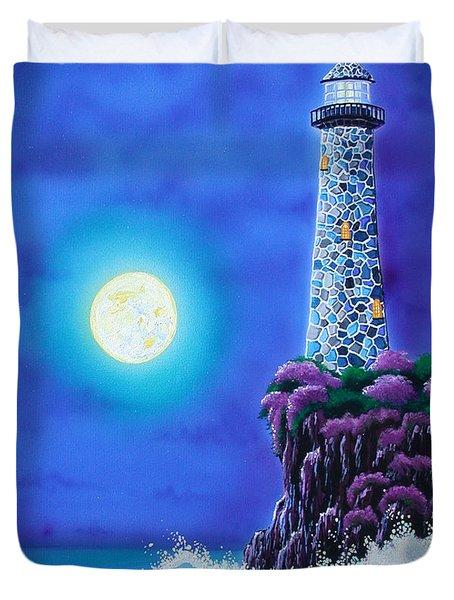Moonlight Vigil Duvet Cover by Angie Hamlin