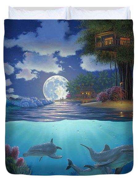 Moonlit Sanctuary Duvet Cover by Al Hogue