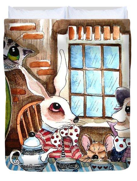 More Tea Duvet Cover by Lucia Stewart