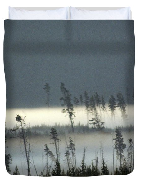 Morning Along The Madison Duvet Cover by Marty Koch