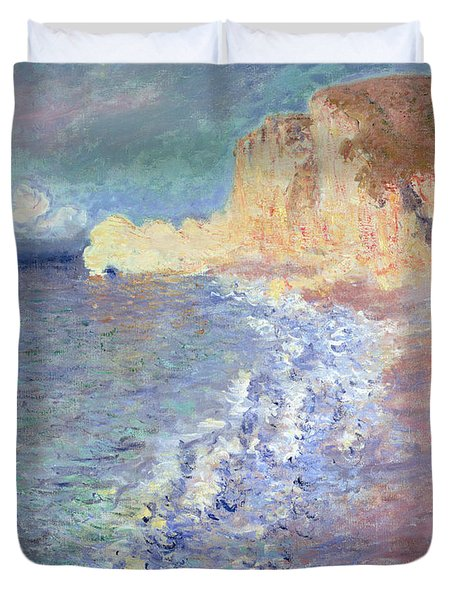 Morning At Etretat Duvet Cover by Claude Monet
