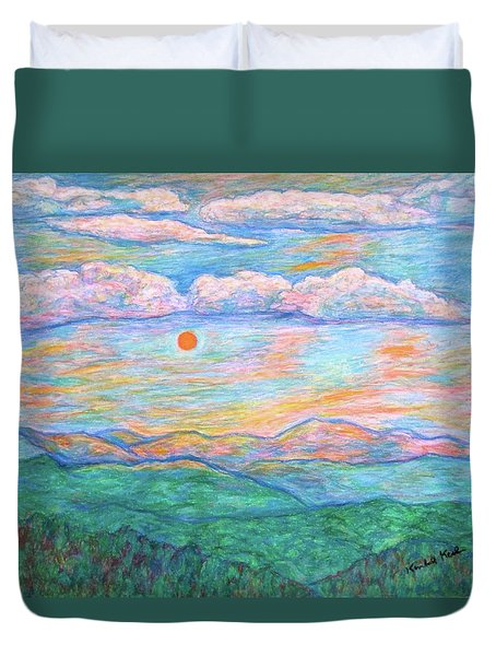 Morning Color Dance Duvet Cover by Kendall Kessler