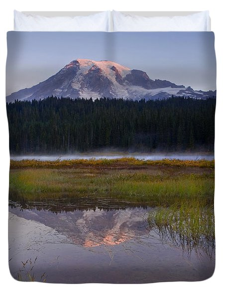 Morning Glow Duvet Cover by Mike  Dawson
